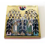 Собор Сибирских святых, икона на доске 14,5*16,5 см - Иконы