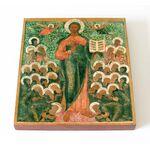 Спас Смоленский с Вологодскими святыми, икона на доске 14,5*16,5 см - Иконы