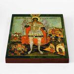 Архангел Михаил с деяниями, XVII- XVIII вв, икона на доске 20*25 см - Иконы