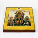 Мученик Иоанн Воин, Воинственник, XIX в, икона на доске 20*25 см - Иконы