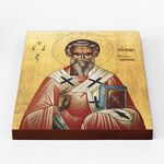 Святитель Мирон Критский, икона на доске 20*25 см - Иконы