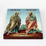 Святые апостолы Петр и Павел, икона на доске 20*25 см - Иконы