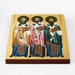 Собор трех святителей, икона на доске 20*25 см - Иконы