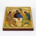 Святая Троица, Андрей Рублев, XV в, икона на доске 20*25 см - Иконы