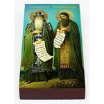 Преподобные Антоний и Феодосий Печерские, икона на доске 7*13 см - Иконы