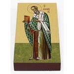 Святитель Афанасий Великий, икона на доске 7*13 см - Иконы