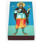 Блаженный Стефан Сербский, король, икона на доске 7*13 см - Иконы