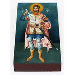 Мученик Нестор Солунский, Фессалоникийский, икона на доске 7*13 см - Иконы