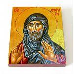 Преподобный Ефрем Сирин, икона на доске 8*10 см - Иконы