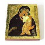 Ярославская икона Божией Матери, XV в, печать на доске 8*10 см - Иконы