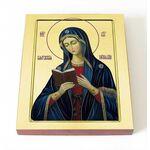Калужская икона Божией Матери, печать на доске 8*10 см - Иконы