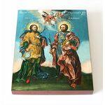 Мученики бессребреники Кир и Иоанн, икона на доске 8*10 см - Иконы