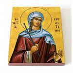Мученица Мелитина Маркианопольская, икона на доске 8*10 см - Иконы