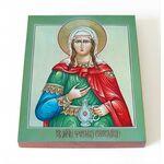 Мученица Фотина Самаряныня Римская, икона на доске 8*10 см - Иконы