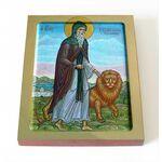 Преподобный Герасим Иорданский, икона на доске 8*10 см - Иконы