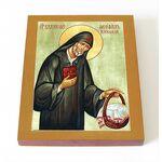 Преподобный Феофил Киевский, Христа ради юродивый, доска 8*10 см - Иконы