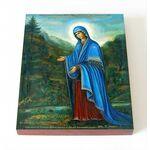 """Пюхтицкая Икона Божией Матери """"У источника"""", доска 8*10 см - Иконы"""