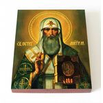 Святитель Пётр, Митрополит Московский, икона на доске 8*10 см - Иконы