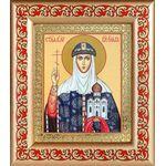 Равноапостольная княгиня Ольга, рамка с узором 14,5*16,5 см - Иконы