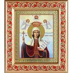 Великомученица Параскева Пятница, икона в рамке с узором 14,5*16,5 см - Иконы