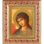 Архангел Гавриил, икона в широкой рамке с узором 14,5*16,5 см - Иконы