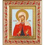 Мученица София Римская, икона в рамке с узором 14,5*16,5 см - Иконы