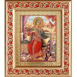 Великомученица Екатерина Александрийская, рамка с узором 14,5*16,5 см - Иконы