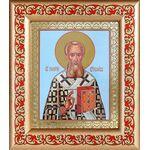 Святитель Григорий Богослов, икона в рамке с узором 14,5*16,5 см - Иконы