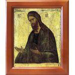 Святой Иоанн Предтеча, XV в, икона в рамке 12,5*14,5 см - Иконы