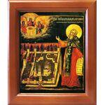 Преподобный Макарий Желтоводский, Унженский, в рамке 12,5*14,5 см - Иконы