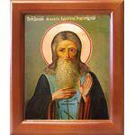 Преподобный Михаил Клопский, Новгородский, икона в рамке 12,5*14,5 см - Иконы