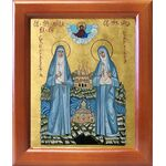 Преподобномученица Елисавета и инокиня Варвара, рамка 12,5*14,5 см - Иконы