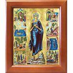 Преподобная Мария Египетская с житием, икона в рамке 12,5*14,5 см - Иконы