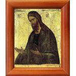 Святой Иоанн Предтеча, XV в, икона в рамке 8*9,5 см - Иконы