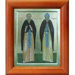 Преподобные Серапион и Евфросин Псковские, икона в рамке 8*9,5 см - Иконы
