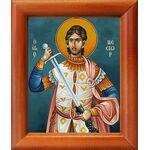 Мученик Нестор Солунский, Фессалоникийский, икона в рамке 8*9,5 см - Иконы