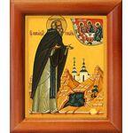 Преподобный Никандр Городноезерский, икона в рамке 8*9,5 см - Иконы