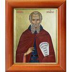 Преподобный Савва Освященный, икона рамке 8*9,5 см - Иконы