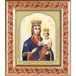 Озерянская икона Божией Матери, рамка с узором 14,5*16,5 см - Иконы