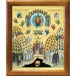 Собор новомучеников и исповедников Российских, рамка 17,5*20,5 см - Иконы