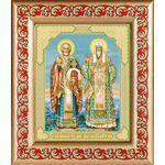 Николай Чудотворец и Алексий Московский, икона в рамке 14,5*16,5 см - Иконы
