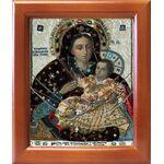 Козельщанская икона Божией Матери, рамка 12,5*14,5 см - Иконы