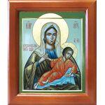 Незнановская икона Божией Матери, деревянная рамка 12,5*14,5 см - Иконы