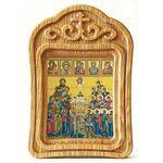 Собор покровителей охотников и рыболовов, икона в резной рамке - Иконы