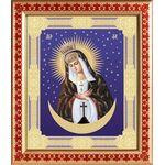 Икона Божией Матери Остробрамская Виленская, рамка с узором 21,5*25 см - Иконы