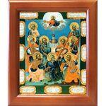 Девять мучеников Кизических, XVIII в, икона в рамке 12,5*14,5 см - Иконы