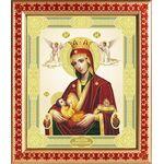 """Икона Божией Матери """"Млекопитательница"""", рамка с узором 21,5*25 см - Иконы"""