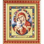 Жировицкая икона Божией Матери, широкая рамка с узором 21,5*25 см - Иконы