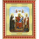 """Икона Божией Матери """"Экономисса"""", рамка с узором 21,5*25 см - Иконы"""