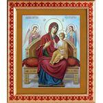 """Икона Божией Матери """"Всецарица"""", широкая рамка с узором 21,5*25 см - Иконы"""